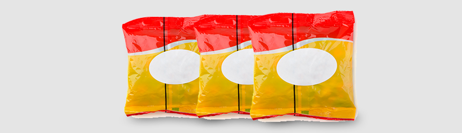 Products in a flexible packaging